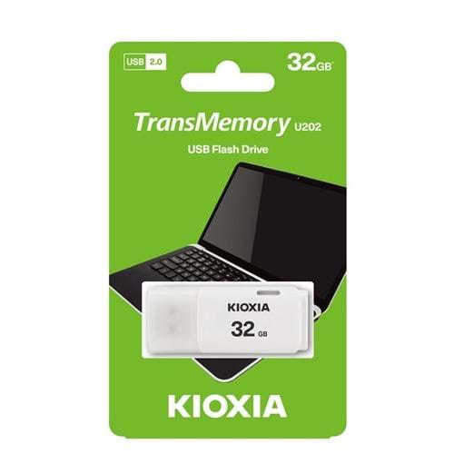 BELLEK KIOXIA 32GB U202 USB2.0 LU202W032GG4 Beyaz