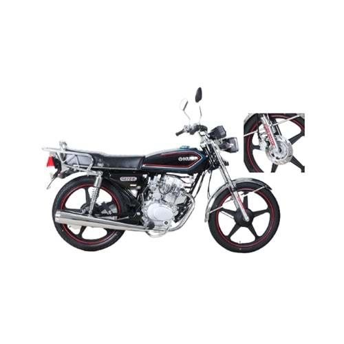 KUBA KM125-6 PLUS ÇELİK JANT ÖN DİSK FREN MOTOSİKLET (SİYAH)