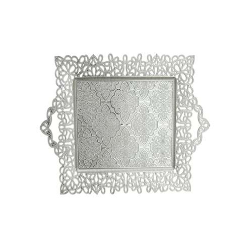 Sena Desenli Gümüş Tepsi